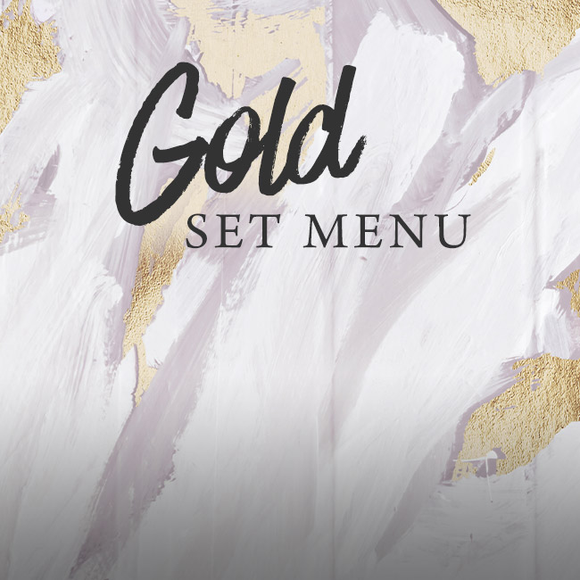 Gold set menu at The Bell