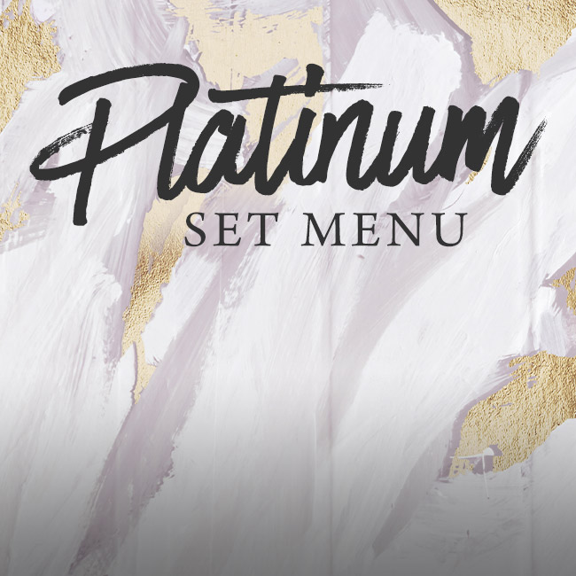 Platinum set menu at The Bell