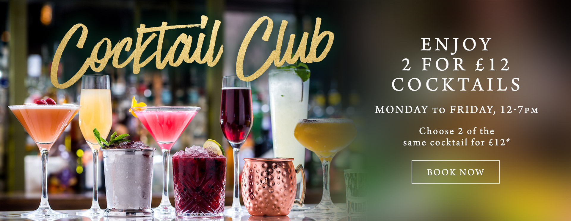 2 for £12 cocktails at The Bell